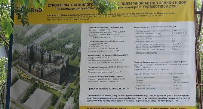 ЖК Серебряный парк паспорт объекта